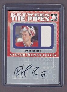 2005-06 Between the Pipes Signed Memorabilia  Patrick Roy 7/10