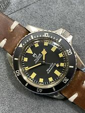 👍 Vintage LeGran Submariner Black Snowflake Style Diver Watch -  Automatic