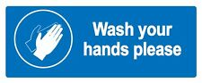 Wash your hands - Information Self Adhesive Labels 100mm x 148mm 20ct