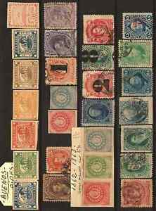 Argentina stamps (230) from 1862 Used to Fine Used, Mint Hinged & Unused no gum