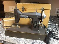 Kenmore 117.812 Sewing Machine with Foot pedal, & Cases. Vintage Used & works