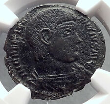 MAGNENTIUS 350AD Chi-Rho Labarum Authentic Ancient Roman Coin NGC XF Rare i60273