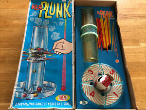 VINTAGE 1960'S GAME KERPLUNK BY IDEAL COMPLETE, EXCELLENT CONDITION