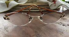 """VINTAGE CHANEL Rimless Prescription Lens Eyeglasses Tortoise Frames """"RARE"""""""