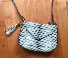 Designer CROSSBODY LEATHER Handbag Purse Ivory White Black  GI  NEW YORK Bag