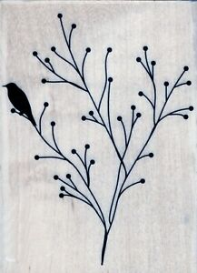 Rubber Stamp on Wood - Nature's Dance - 3879J