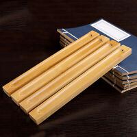 Office Handmade Wooden Bamboo Board Incense Censer Stick Holder Ash Catcher