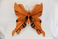 GIANT BRIGGS WOODEN ART BUTTERFLY - SIGNED - WOOD AND PAINT - GORGEOUS!