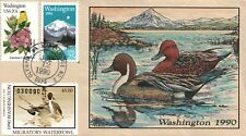 1990 Olympia Washington USA Duck Stamp Milford Hand Painted First Day Cover