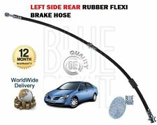 FOR NISSAN PRIMERA P12 2001-2006 NEW LEFT SIDE REAR RUBBER FLEXI BRAKE HOSE