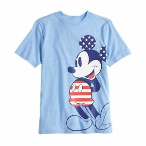 DISNEY MICKEY MOUSE STARS & STRIPES PATRIOTIC T-SHIRT YOUTH BOYS S(6)  M(8)
