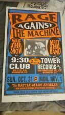 Rage Against The Machine Cardboard Boxing Style Concert Poster Original Globe