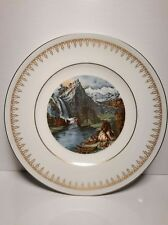 vintage currier and ives yosemite valley porcelain collectors plate
