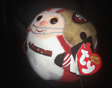 "TY NFL San Francisco 49ers Beanie Ballz Plush New 5"" Heart Tag"