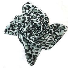 Flat Large Print Leopard Animal Print Scarf Shawl Stole Wrap