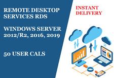 License Remote Desktop Services Windows Server 2012, 2016 50 User Cal Fast Ship