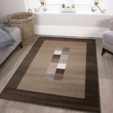 Soft Dark Chocolate Brown Living Room Rugs Thin Small Large Geometric Rug