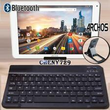For ARCHOS 97 101 Tablet Slim Wireless Bluetooth Keyboard + Stand Holder