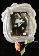 New Elegant Large Mikasa Frosted Crystal Love Knot 8x10 Picture Frame Wedding