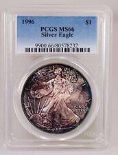 1996 U.S. $1.00 Silver Eagle PCGS MS 66 Toned