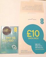 EE 4G Pay As You Go multi pack SIM PAYG £10 Everything Pack (buy 1 get 1 free)