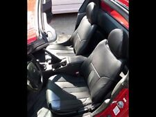 Honda Del Sol 1993-1997 Black/Charcoal S.Leather Custom Fit Front Seat Covers(Fits: Honda)