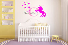 Custom Name Unicorn Stars Wall Art Decal Children Decor Stickers Vinyl Nursery