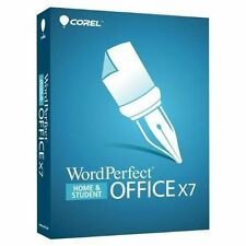 WordPerfect Office X7 Home and Student DISC VERSION RETAIL SEALED