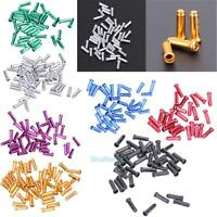 50PCS Bike Bicycle Brake Shifter Derailleur Inner Cable Wire End Cap Crimps NEW
