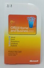 Genuine Microsoft Office 2010 Home and Business Key Card for Windows