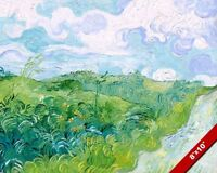 GREEN WHEAT FIELDS AUVERS FRANCE VINCENT VAN GOGH PAINTING ART REAL CANVAS PRINT