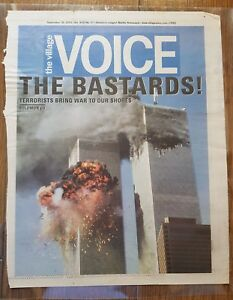 The Village Voice Newspaper Front Page 9/11 Terrorist Attacks World Trade Center