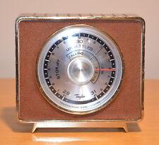 Vintage TAYLOR Art Deco Brass Barometer Weather Forecaster - Made in U.S.A.
