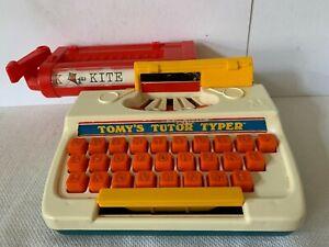 VTG TOMY'S TUTOR TYPER child toy typewriter sound action 1977 Hong Kong