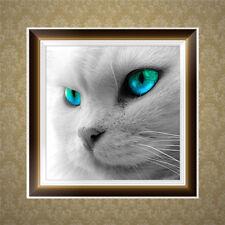 DIY Green Eyes Cat 5D Diamond Embroidery Painting Cross Stitch Home Decor Craft