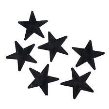 Black Star Embroidered Iron On Sew On Patch 4.1x4cm