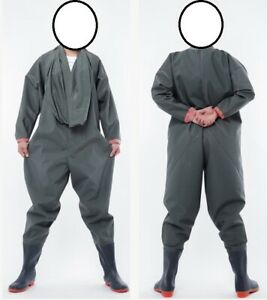 Best PU full body waders suit chest entry, drysuit all sizes