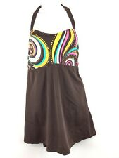 Avenue Abstract Tummy Control Swimming Dress One Piece Swimsuit Size 18
