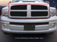 For 02-05 Dodge Ram 1500/2500/3500 Black Billet Grille Grill 2 Pcs Fedar