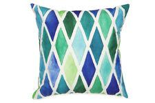 Blue Diamond Outdoor Cushion 45x45cm - Insert Included - Fab Habitat Australia