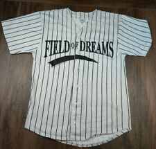 Vtg Field Of Dreams Movie Jersey Shirt Pinstripe Universal Studios Badger Sz L