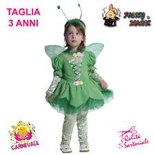 COSTUME VESTITO CARNEVALE FATINA DEI BOSCHI TRILLY BAMBINA 2 ANNI FANCY MAGIC 64