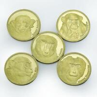 Republic Somaliland set of 5 coins Animal World Monkeys 2017