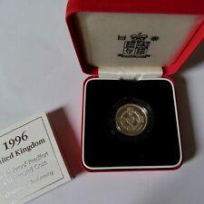 1996 Piedfort Silver Proof One  Pound Coin+BOX+COA