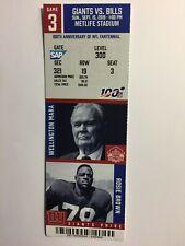 New York Giants vs Bills Sept 15, 2019 ticket stub