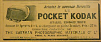 PUBLICITÉ DE PRESSE 1896 LE POCKET KODAK APPAREIL PHOTOGRAPHIQUE THE EASTMAN