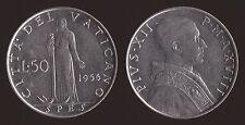 VATICANO 50 LIRE 1956 - PIO XII - Q.FDC/aUNC QUASI FIOR DI CONIO