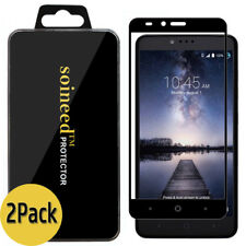 [2-Pack] SOINEED ZTE Zmax Pro Z981 FULL COVER Tempered Glass Screen Protector