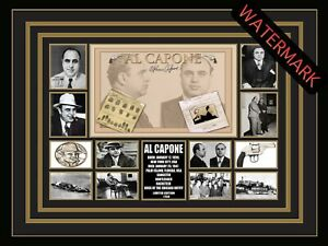 AL CAPONE SCARFACE AMERICAN GANGSTER LIMITED EDITION SIGNED FRAMED MEMORABILIA