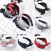 Fashion Women's Tie Headband Hairband Wide Knot Ear Hair Hoop Band Accessories